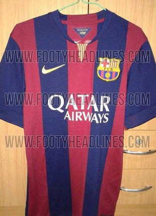 asi seria nueva camiseta del barca 1397825860634 Leaked! Barcelonas 2014/15 home shirt for next season [Picture]