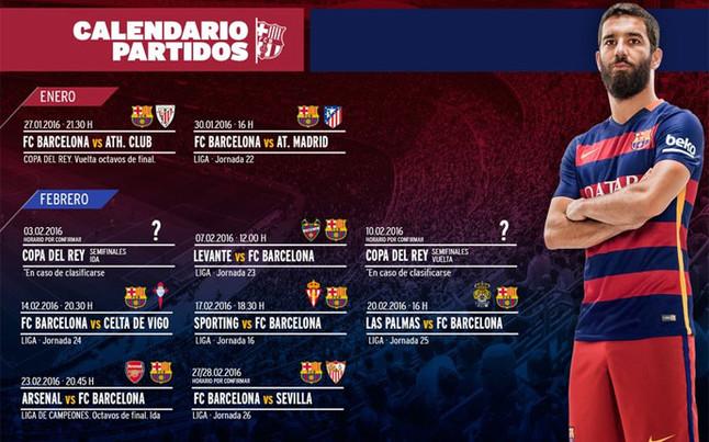 �Conoces el calendario de infarto que le espera al FC Barcelona en el pr�ximo mes?