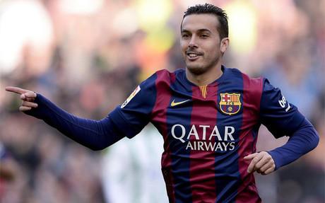 Pedro, el mejor para la afición del Barça ante el Córdoba