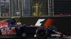 Carlos Sainz, durante la sesi�n de calificaci�n en Singapur