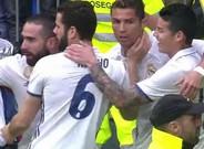 Cristiano Ronaldo marcó ante el Valencia