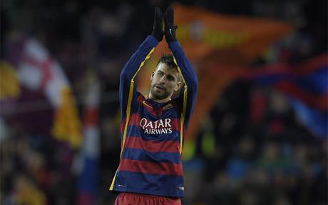 Gerard Piqu� afronta este s�bado su partido 200 de Liga con el FC Barcelona