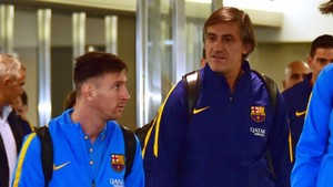Pepe Costa, con Leo Messi