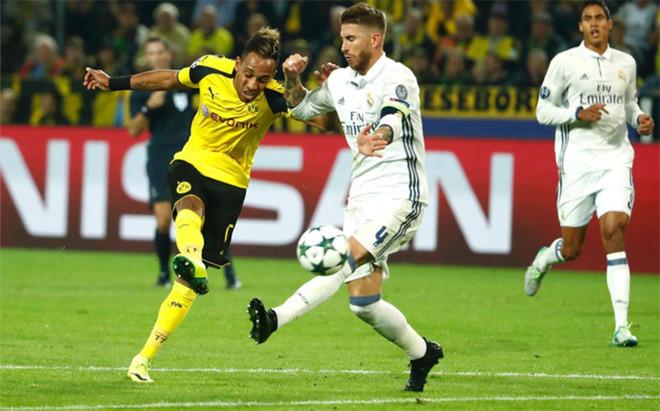 Sergio Ramos, en el partido ante el Dortmund