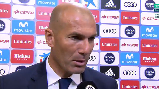 Zidane habló de la derrota de su equipo tras el partido