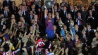 Barcelona\'s midfielder Xavi Hernandez holds the King\'s Cup after winning the Spanish King\'s Cup final match between Athletic Bilbao and FC Barcelona on May 25, 2012 at the Vicente Calderon stadium in Madrid. AFP PHOTO / JOSEP LAGO