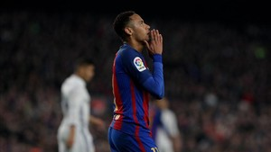 Neymar, en el Camp Nou