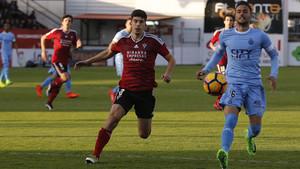 Cristian Herrera ha sido sustituido en la recta final por Longo, el autor del 0-2