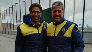 Manolo Márquez, con Juan Carlos Valerón