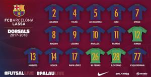 Los nuevos dorsales del FC Barcelona Lassa