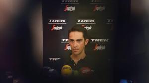 Contador, ante los medios, previo al inicio este sábado de La Vuelta