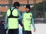 Aleix Vidal, en el entrenamiento