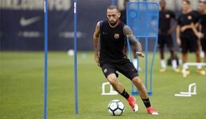 Aleix Vidal, en uno entrenamiento