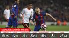 Así jugó Iniesta frente al Valencia