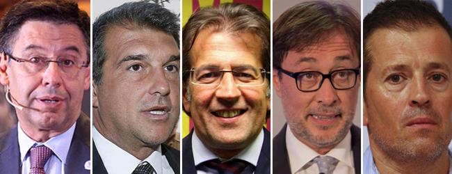 Los candidatos oficiales a la presidencia del FC Barcelona