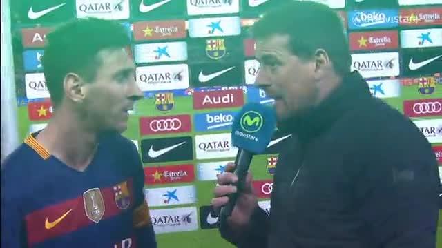 Messi: No se si ha sido penalti o no