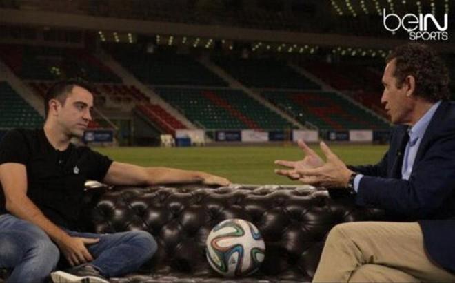 Xavi, en la entrevista con Valdano