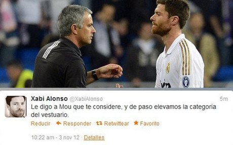 Lea el mensaje privado de Xabi Alonso en su cuenta de Twitter