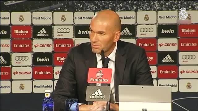 Zidane, en su primera rueda de prensa como entrenador del Real Madrid