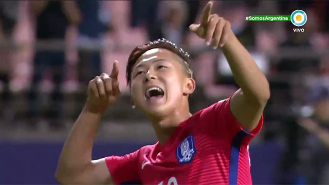 El golazo de Lee en el Corea-Argentina del Mundial sub20