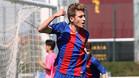 Robert Navarro celebrando un gol la pasada temporada