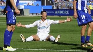 Cristiano Ronaldo no paró de lamentarse en Mendizorroza