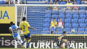 Beauvue marca el primer gol del Las Palmas-Leganés
