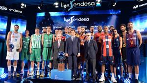Juan Carlos Navarro fue uno de los protagonistas de la presentación de la Liga Endesa 2017 - 2018
