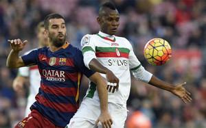 Arda Turan en su primer partido con el FC Barcelona