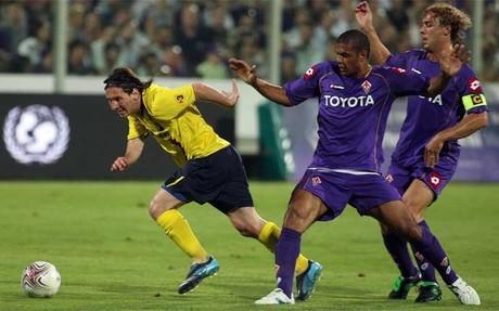 Messi jug� el �ltimo partido del FC Barcelona en Florencia. No lo har� este domingo por llevar apenas unos d�as de entrenamiento