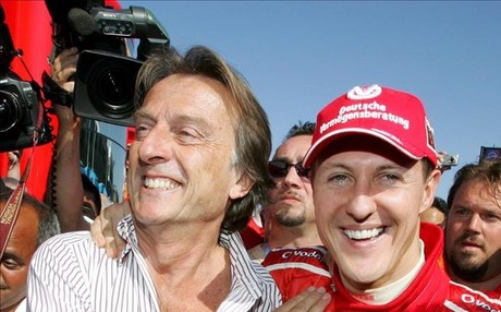Montezemolo y Schumacher, en los viejos tiempos