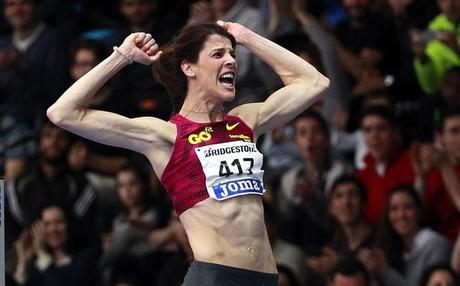 Ruth Beitia, en los campeonatos de Espa�a, es la imagen del atletismo espa�ol