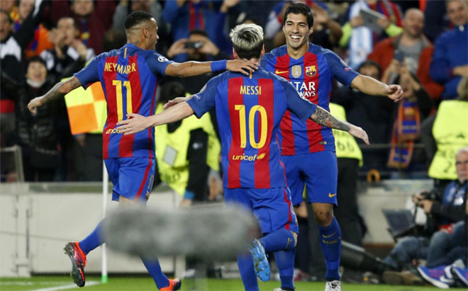 Image result for Barcelona 4- 0 Manchester City: Lionel Messi hat trick in Guardiola's return