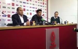 Valdés, durante su presentación con el Standard
