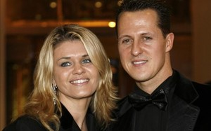 Corinna y Michael Schumacher, antes del accidente