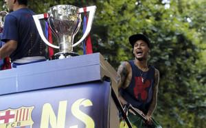 Neymar ganó su primera Liga la temporada pasada