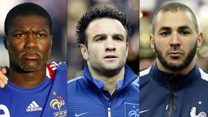 Cissé, Valbuena y Benzema, protagonistas del sextape