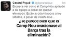 El mensaje de Gerard Piqué en su cuenta de Twitter