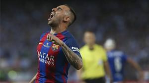 Alcácer marcó en la final de Copa