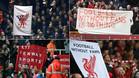 La afici�n del Liverpool protest� de manera masiva por el precio de las entradas