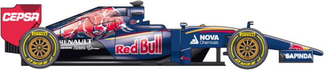 El coche de Toro Rosso para el Mundial 2016 de F1