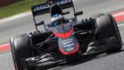 Fernando Alonso, rodando en el Circuit