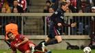 Fernando Torres fue v�ctima de un penalti inexistente que luego fall�