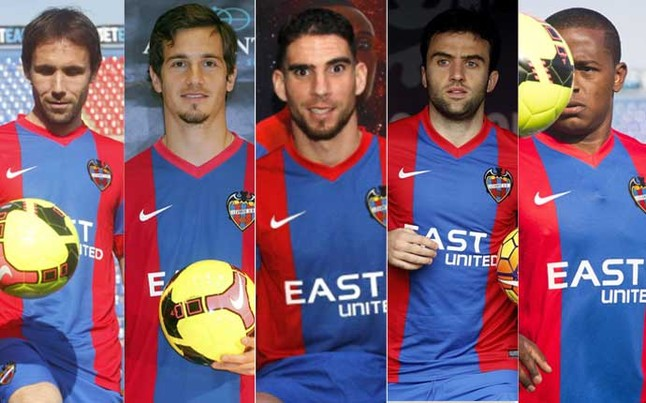 Los cinco refuerzos del Levante para intentar derrotar al FC Barcelona