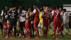 Los jugadores de Santa Fe celebran la victoria