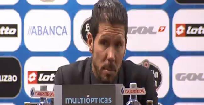 "Simeone: ""Cuando pite Borbalán tendré que portarme mejor"""