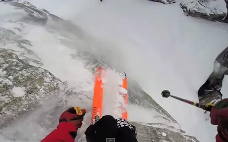 Disfruta con las mejores imágenes de nieve desde una cámara subjetiva