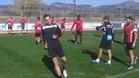 Steve Nash entrenando con el Mallorca