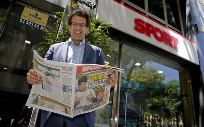 Toni Freixa durante su visita a SPORT, en las �ltimas elecciones a la presidencia del FC Barcelona