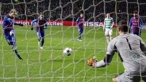 El último gol de Messi en Champions League lejos del Camp Nou: 23 de noviembre de 2016, en Celtic Park (0-2), hace ahora un año...
